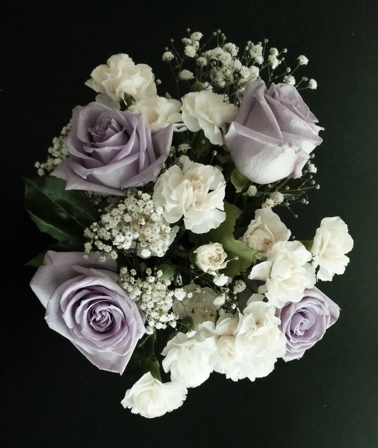 DIY Floral Centerpiece Top View