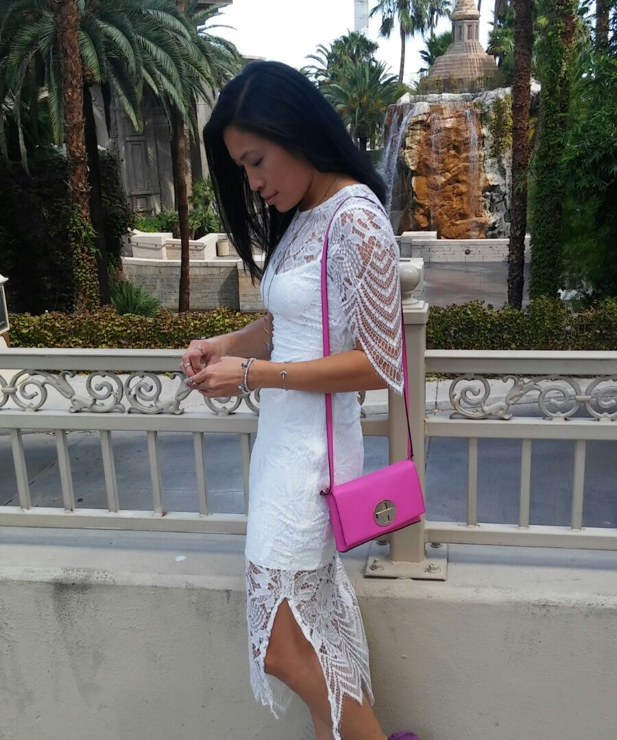 White Lace Dress Overlay