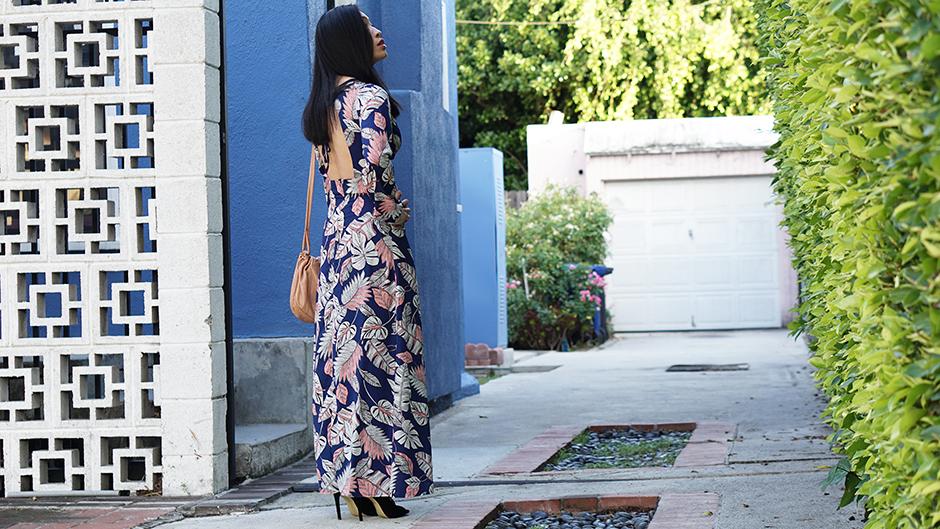 Boohoo Cutout Maxi Dress Back