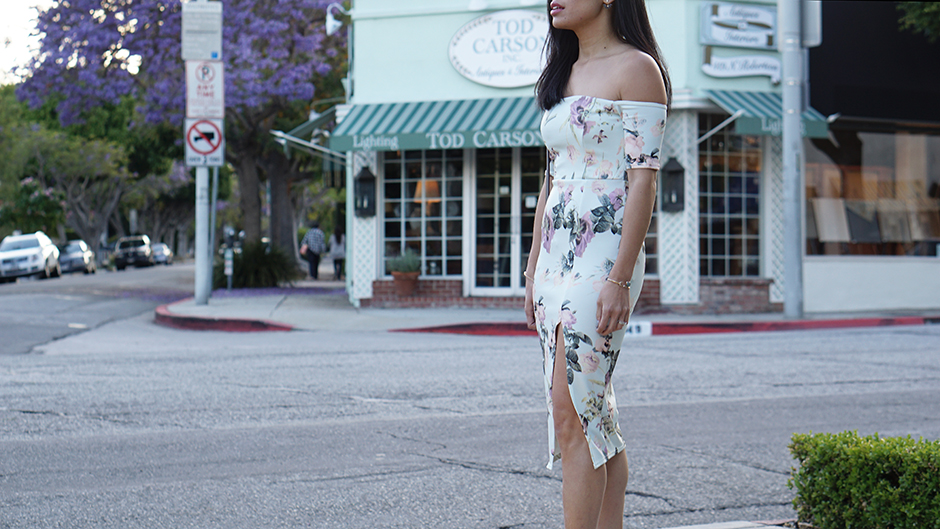 Boohoo Floral Dress Side