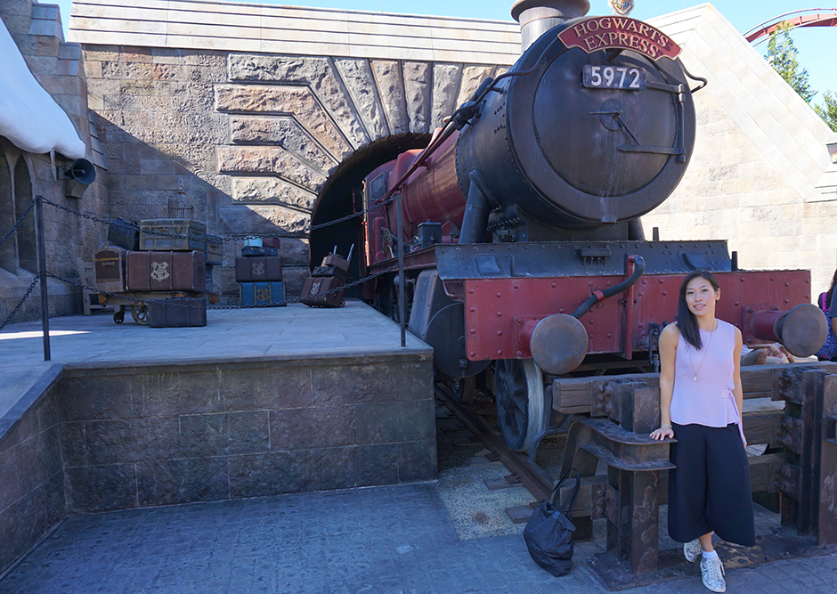 Miki at Hogsmeade