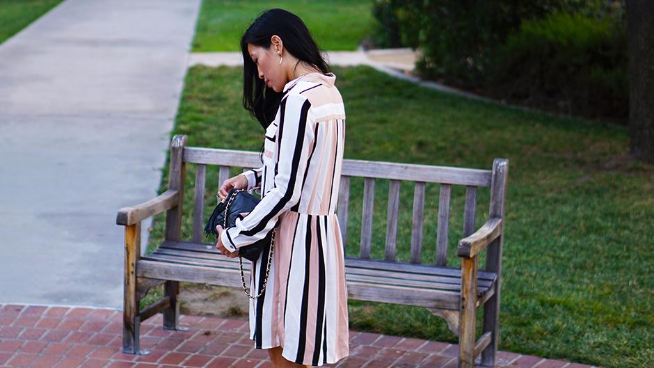 Striped Dress - Fashion Blog