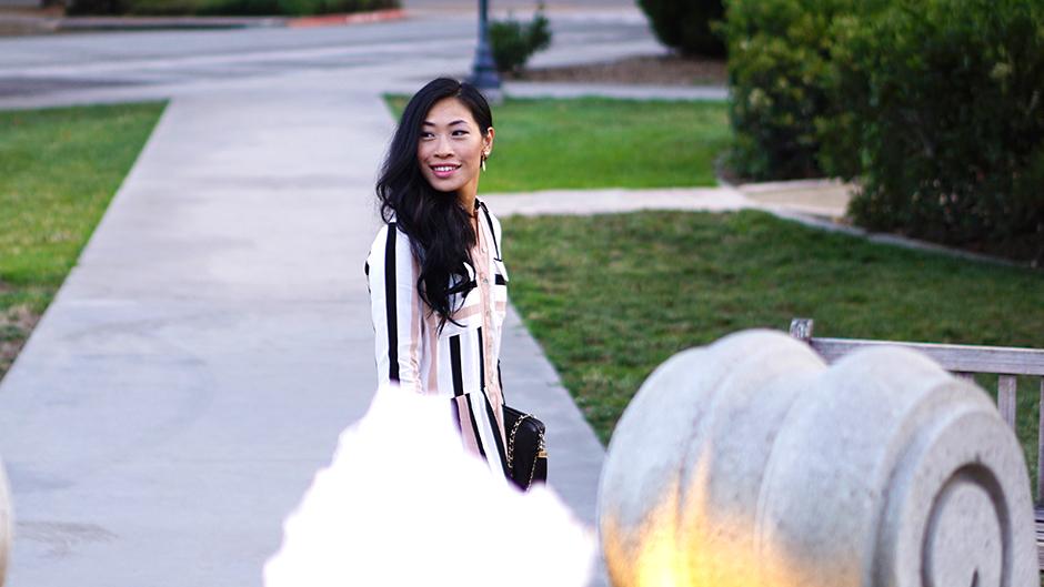 Striped Dress - Style Blog - mikialamode