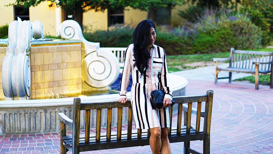 Striped Dress mikialamode
