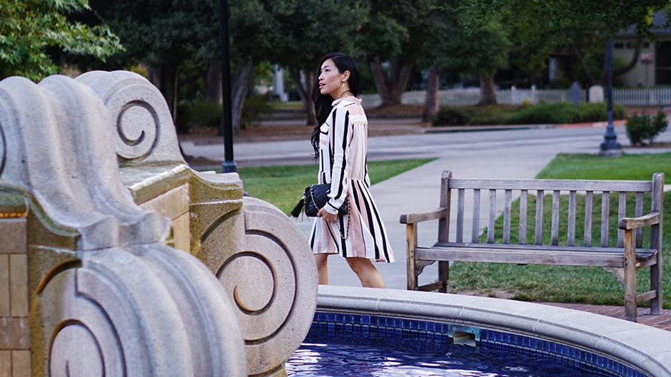 Striped Dress - mikialamode