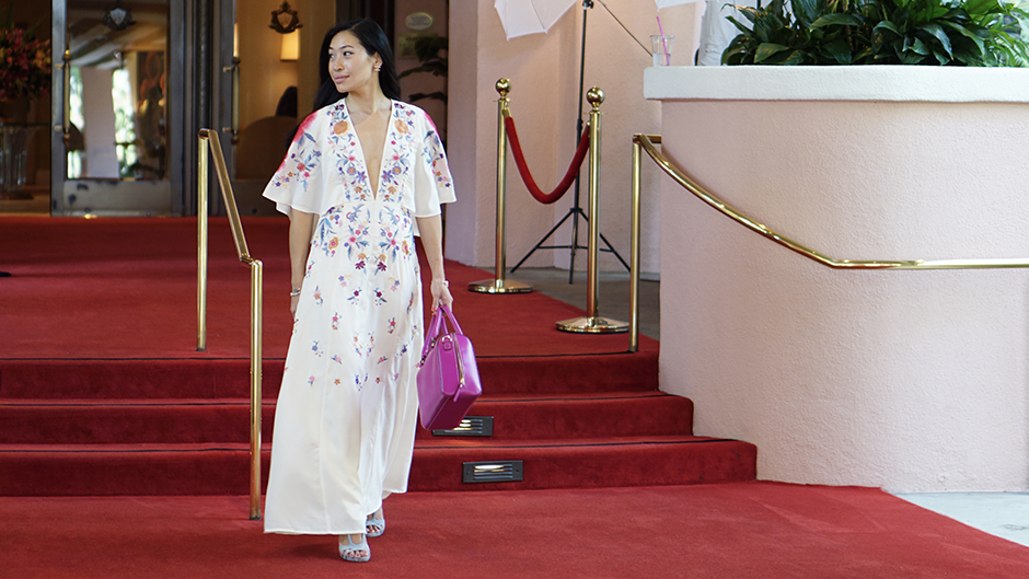 Embroidered Maxi Dress at Beverly Hills Hotel