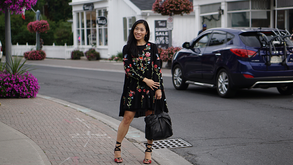 Embroidered Dress StreetStyle