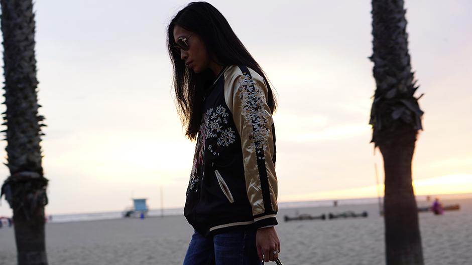 Zaful Reversible Embroidered Bomber Jacket Style Blog