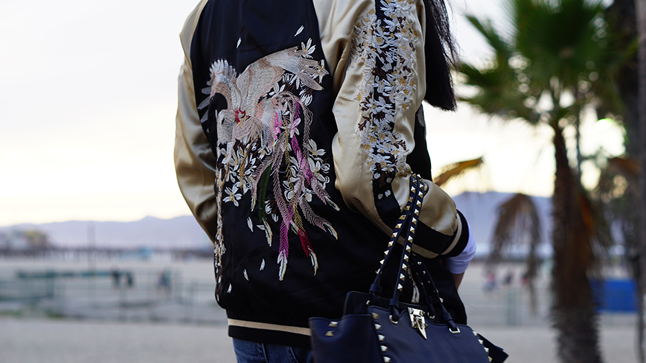 Zaful Reversible Embroidered Bomber Jacket Fashion Blog