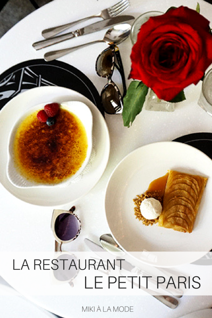 LE PETIT PARIS LA RESTAURANTS PARISIAN DINING