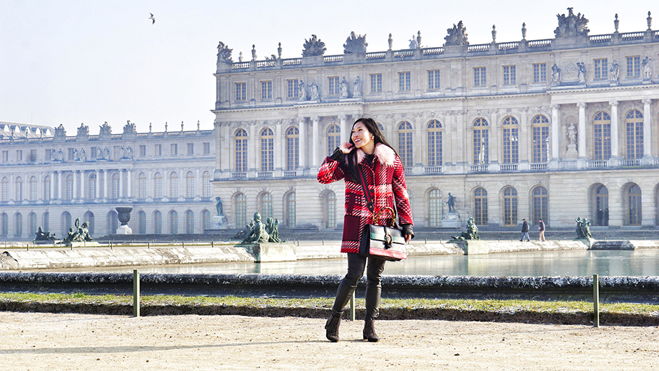 Zara Pink Check Coat
