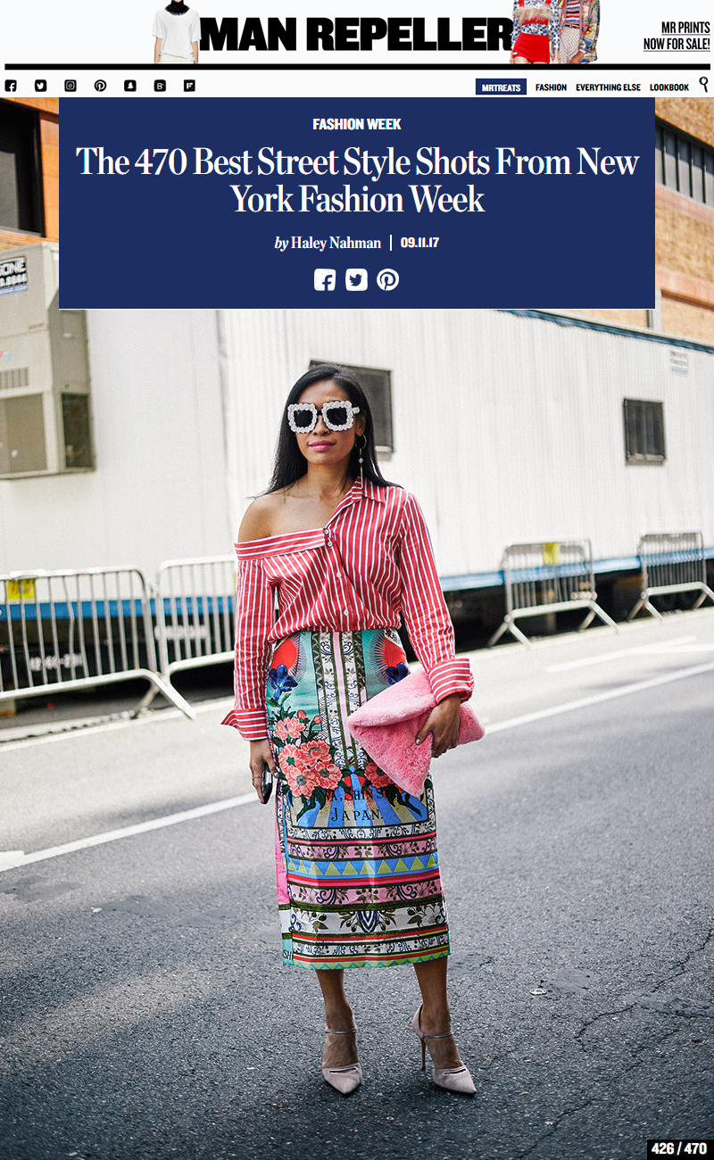 Best Street Style Fashion Week Mixed Prints and Patterns New York