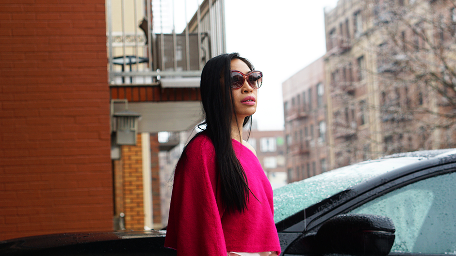 NYFW Street Style Pink Trend