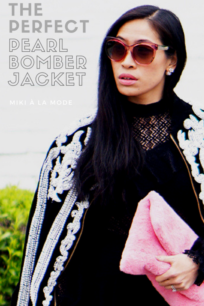 Pearl Bomber Jacket New York Fashion Week