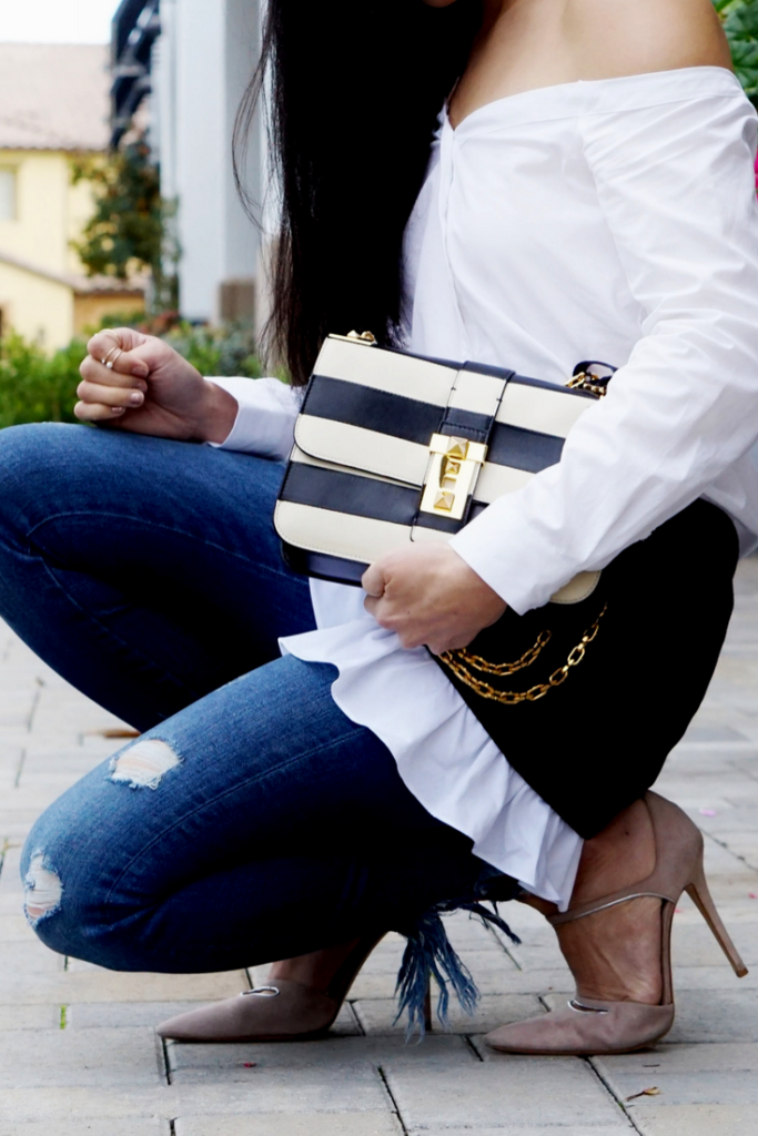 Statement Bag, Ruffles, Valentino B Rockstud | Fashion Style Travel | mikialamode.com