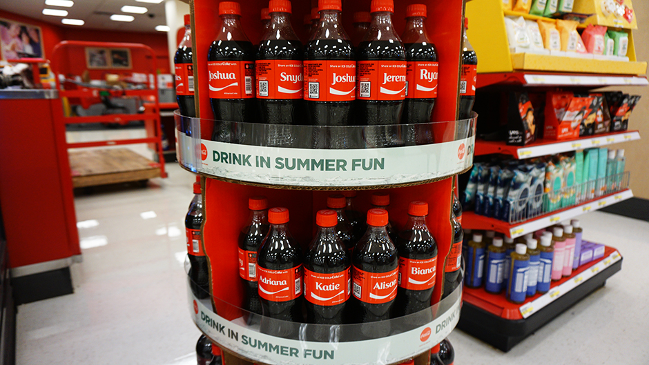 Coca Cola at Target with first and last names #shop #cbias #cocacola #IceColdSummerMoments #coke #ad #shareanicecoldcoke
