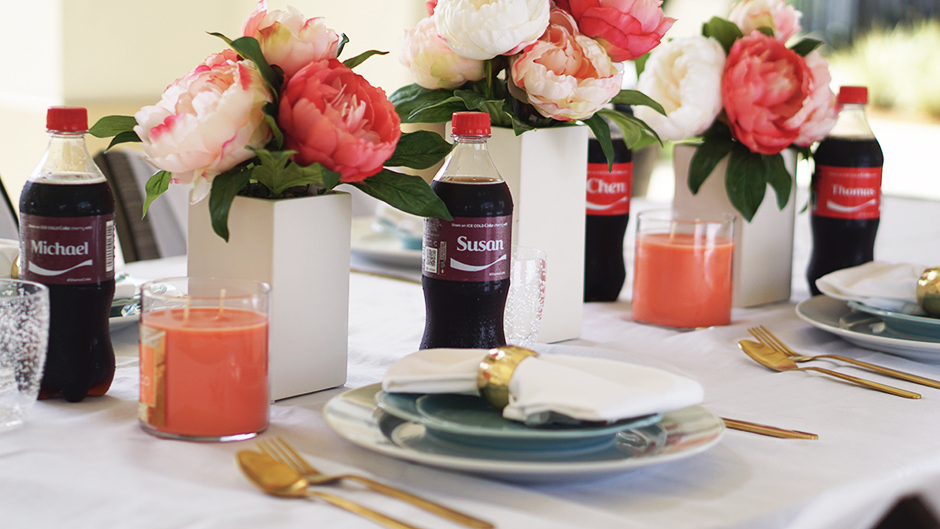 Glamorous Tablescape BBQ Pool Party #target #cocacola #coke #ad #shareanicecoldcoke #IceColdSummerMoments #shop #cbias