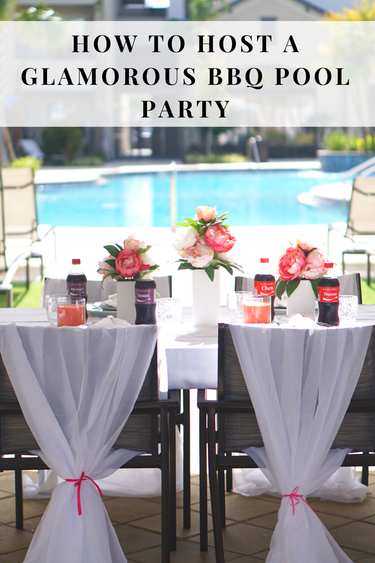 Glamorous BBQ Party Tablescape #hosting #parties #decorations #shop #cbias #ad #IceColdSummerMoments