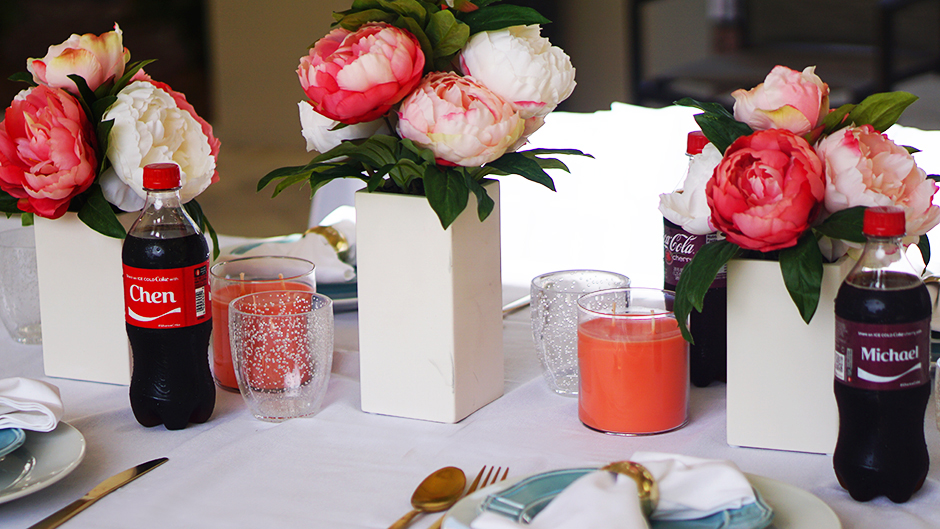 Peonoies Tablescape BBQ Pool Party #target #cocacola #ad #coke #shareanicecoldcoke #IceColdSummerMoments #shop #cbias