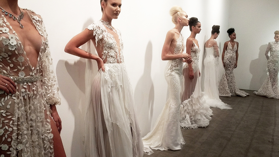 Michael costello couture bridal nyfw ss18 collection for Wedding dress boutiques in nyc