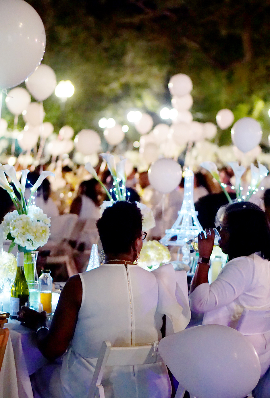 Diner en Blanc White Theme Party Outdoors