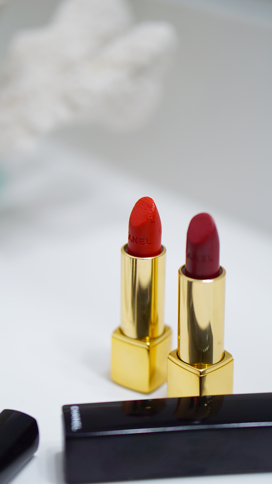 Chanel Beauty Rouge Allure Velvet Luminous Matte Lip Colour #ad #beautyproducts #truered #chanelbeauty #chanelpartner #redlipstick #mattelipstick #fashioninspiration #valentinesday #valentinesbeauty