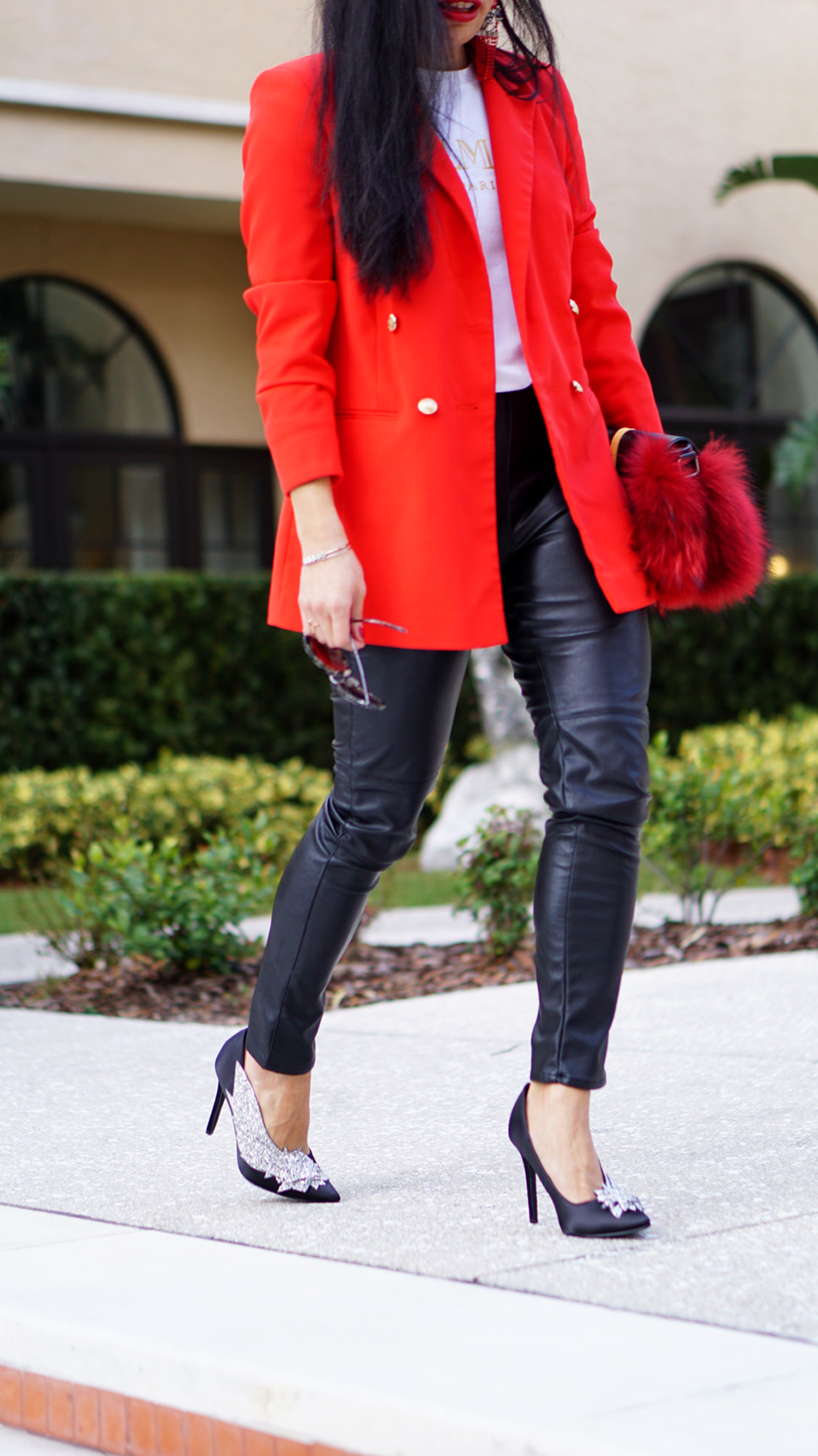 Easy Ways to Add Color to Your Wardrobe #fashiontips #outfitinspiration #redoutfit #redblazer #fashionblog #fashionblogger #styleinspiration #outfitinspo #crystalheels #runwaystyle #boyfriendblazer #streetstyle #streetstyleinspo #streetstyleinspiration #styleinspiration #outfitdetails #shopthelook #Furbag #balmain #tshirt #stylish #nakd #zara #asos