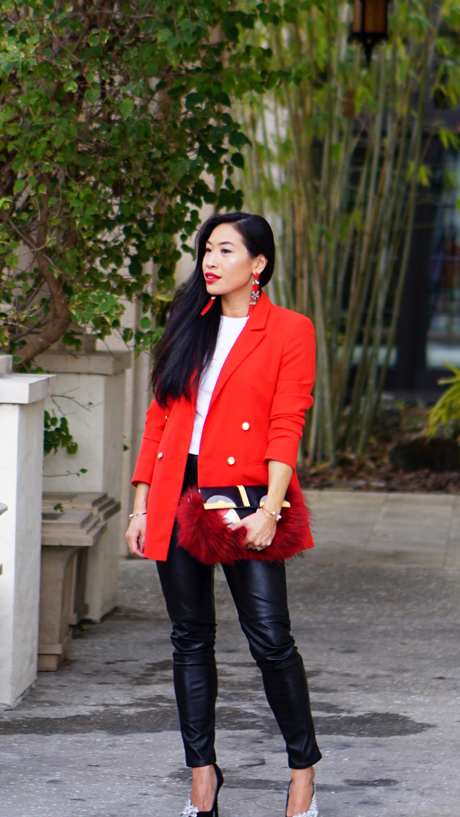 Easy Ways to Add Color to Your Wardrobe #fashiontips #outfitinspiration #redoutfit #redblazer #fashionblog #fashionblogger #styleinspiration #outfitinspo #crystalheels #runwaystyle #boyfriendblazer #streetstyle #streetstyleinspo #streetstyleinspiration #styleinspiration #outfitdetails #shopthelook #Furbag #balmain #tshirt #stylish #nakd #zara #asos #miumiu