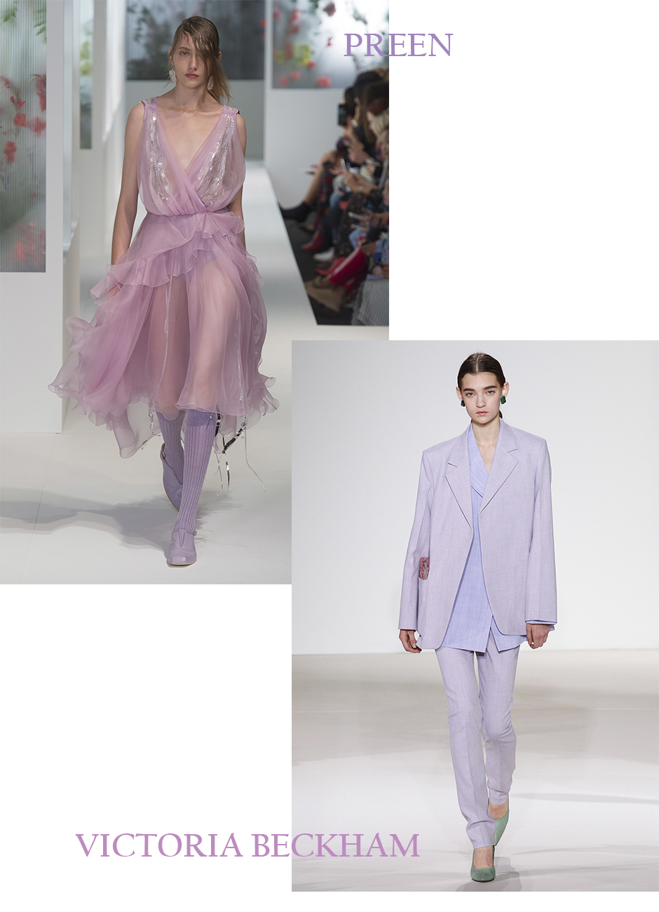 Preen Victoria Beckham Pastel Outfit Street Style Outfit Inspiration #streetstyle #gucci #babyblue #lavender #lilac #pastel #pastelcolors #pasteltrend #pasteloutfit #fashionblogger #styleblogger #styleblog #beverlyhills #lablogger #springsummer #trends