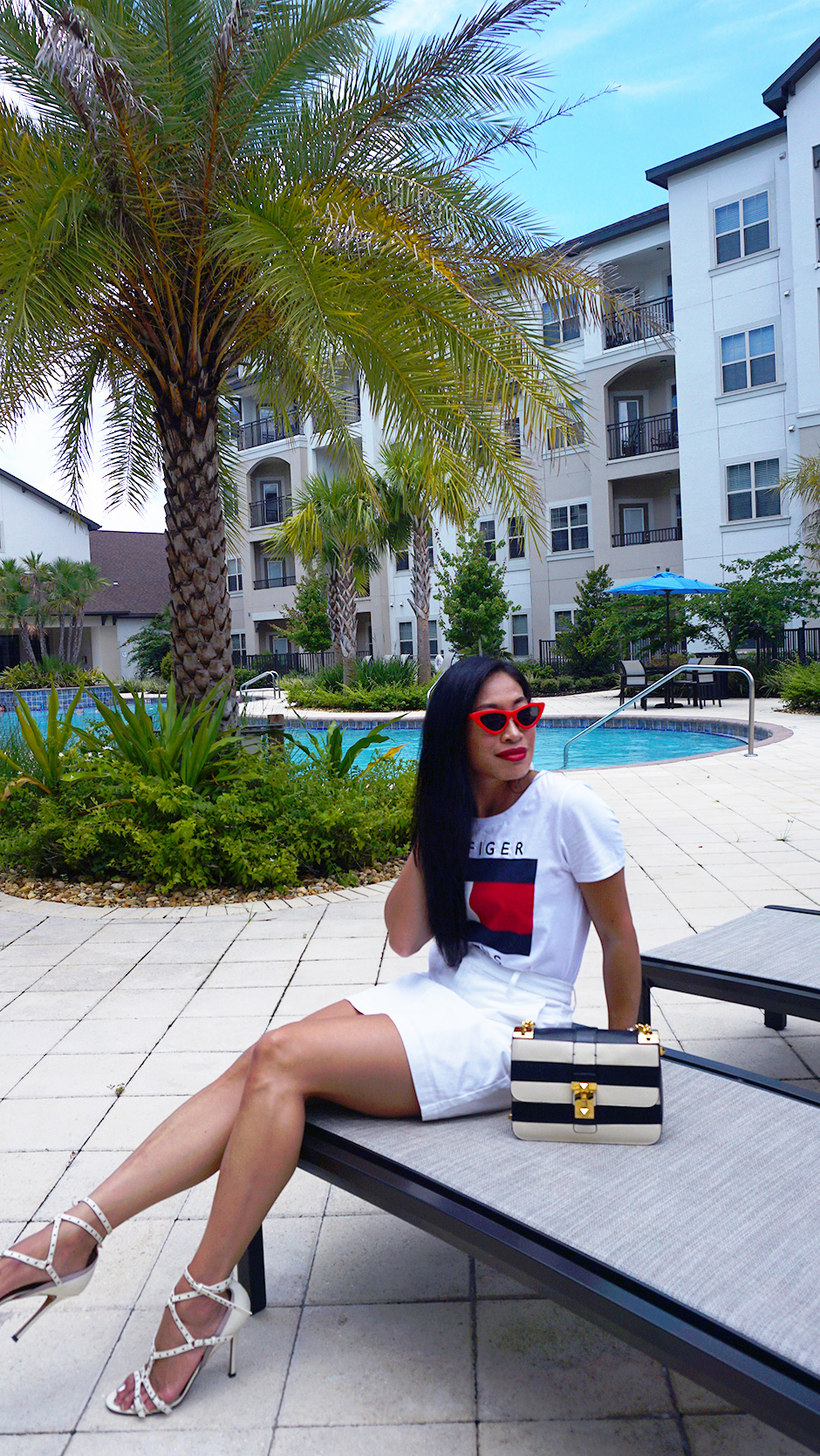 Elevating Sportswear with Tommy Hilfiger and Macys #ad #sportswear #summerstyle #summeroutfit #fashionblog #stylebloog #streetstyle #fashionideas #outfitinspo #outfitinspiration #outfitideas #tshirt #logotee #fashiontrend #miniskirt #skirt #microsunglasses #stylishoutfit #ootd #whatiwore #tommyhilfiger #macys #macyslove #sponsored