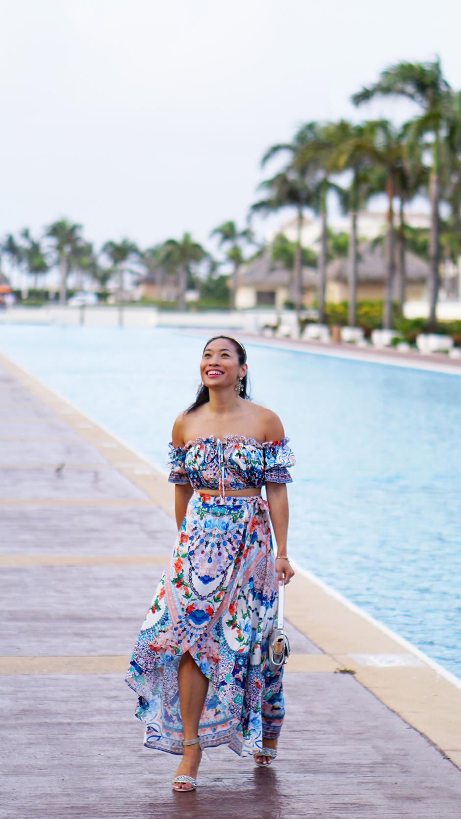 Scarf Print Set Outfit Ideas Inspiration - Making the Most of an All Inclusive Resort and Holiday #dolcegabbana #inspiration #outfitideas #scarfprint #printtrend #summeroutfit #outfitinspo #outfitideas #OOTD #resortwear #readytowear #streetstyle #beachstyle #outfitinspiration #fashionblogger #styleblogger #OOTN #outfitideas #styleideas #runwayinspired #fashion #streetfashion #travelinspo #travelideas #travel #puntacana #hardrock #travelwomen