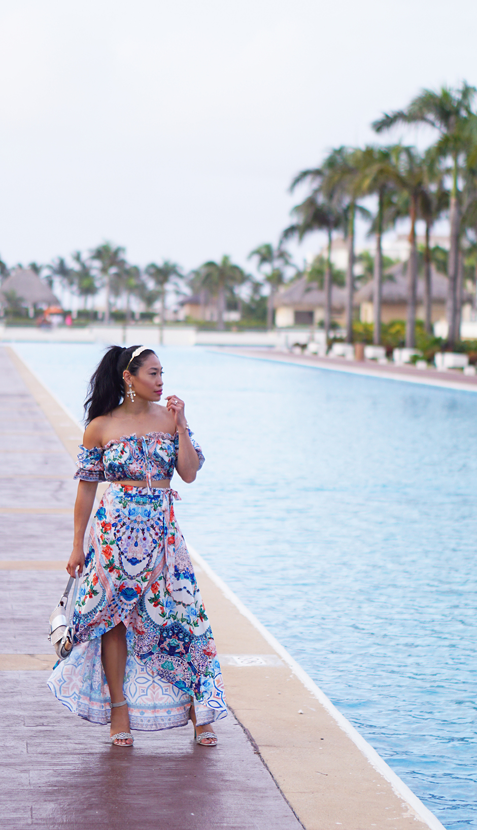 Printed Bardo Set - Travel Tips - Making the Most of an All Inclusive Resort and Holiday #dolcegabbana #inspiration #outfitideas #scarfprint #printtrend #summeroutfit #outfitinspo #outfitideas #OOTD #resortwear #readytowear #streetstyle #beachstyle #outfitinspiration #fashionblogger #styleblogger #OOTN #outfitideas #styleideas #runwayinspired #fashion #streetfashion #travelinspo #travelideas #travel #puntacana #hardrock #travelwomen