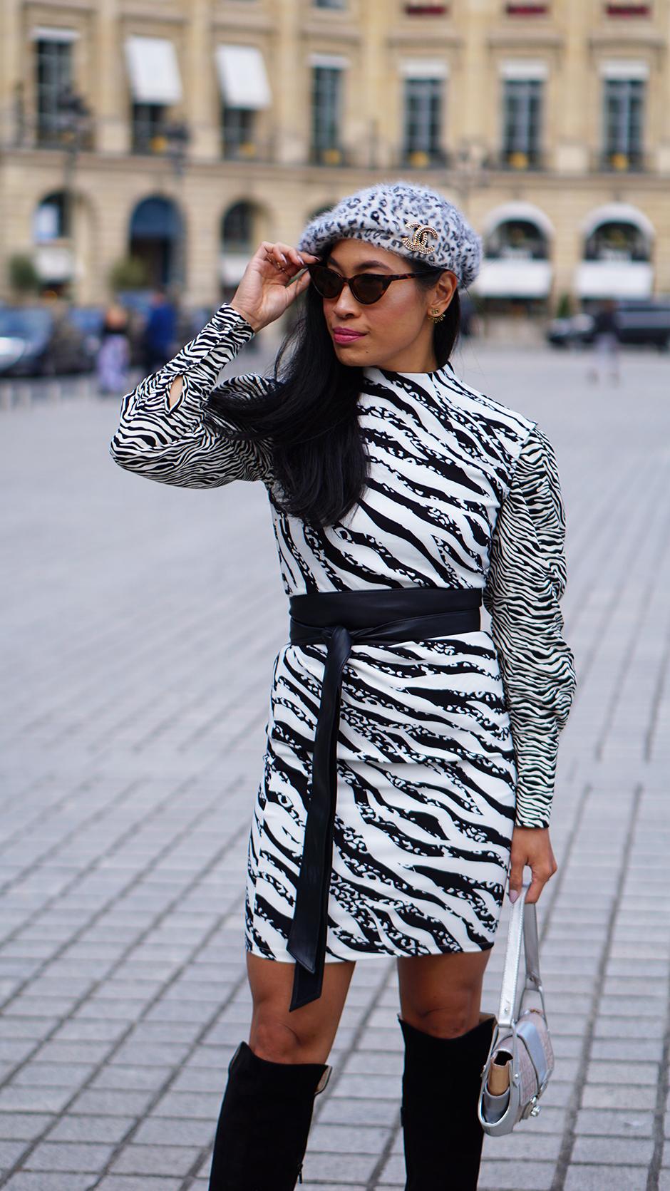 Paris Fashion Week Street Style Fall 2018 #Street #Fashion #Blog #Blogger #pfw #pfw2018 #ss18 #fw18 #parisfashionweek dior #diorbag #diorsaddle #metallo #metallicdress #silverdress #statementheels #Paris #France #fashionblog #styleblog #streetstyle #bestoutfit #falloutfit #beststyle #stylishoutfit #fallfashion #fallstyle #outfitinspo #outfitinspiration #outfitideas #leoparddress #versace #gianniversace #vintageversace #leopard #animalprint #fallfashion #kneeboots #beret #manoloblahnik #vintagefendi #fendibaguette #fendi #fendibag