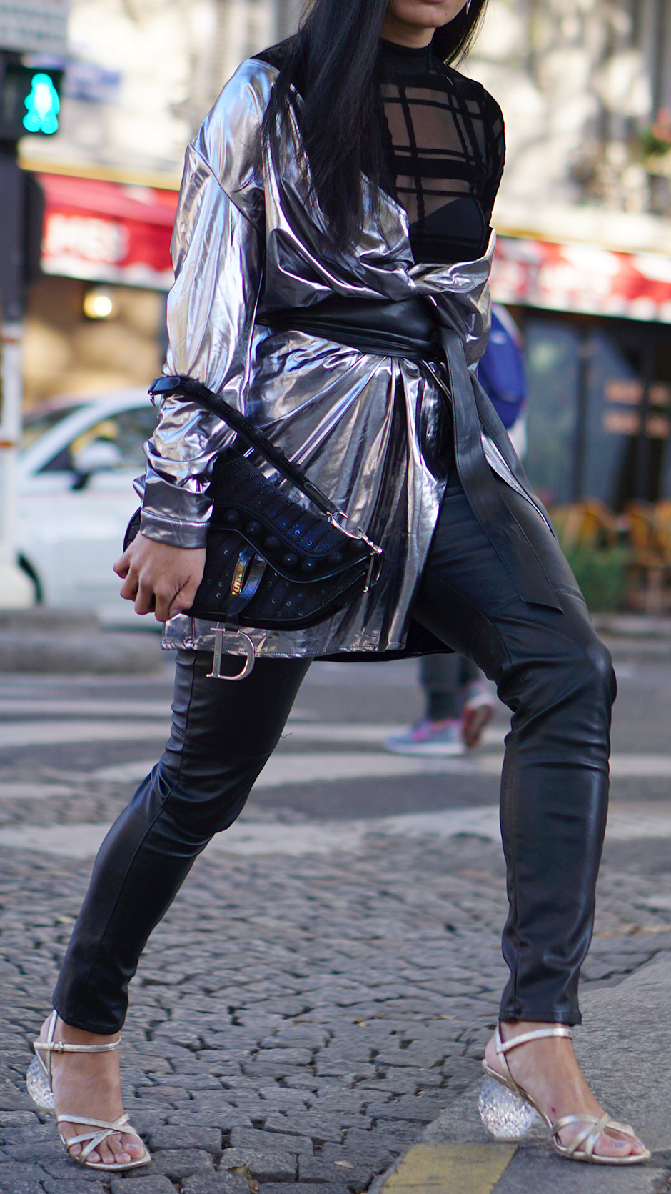 Paris Fashion Week Street Style Fall 2018 #Street #Fashion #Blog #Blogger #pfw #pfw2018 #ss18 #fw18 #parisfashionweek #revolve #zara #boohoo #dior #diorbag #diorsaddle #metallo #metallicdress #silverdress #statementheels #Paris #France #fashionblog #styleblog #streetstyle #bestoutfit #falloutfit #beststyle #stylishoutfit #fallfashion #fallstyle #outfitinspo #outfitinspiration #outfitideas