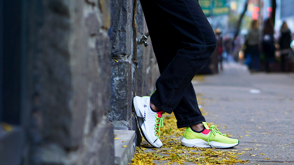 Defying Convention with Champs Reebok Sole Fury #ad #reebok #solefury #streetfashion #streetstyle #athletisure #utilitysuit #falltrends #wintertrends #fashiontrends #athleisure #sneakers #neontrend #neon #valentino #rockstud #fashionblogger #styleblogger #streetstyle #newyork #newyorkblogger #nycbloggers #newyorkinfluencer #newyorkstyle #outfitideas #outfitinspiration #falloutfit #winteroutfit #stylishoutfit